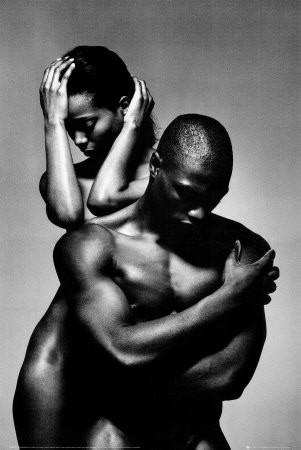 black man and women